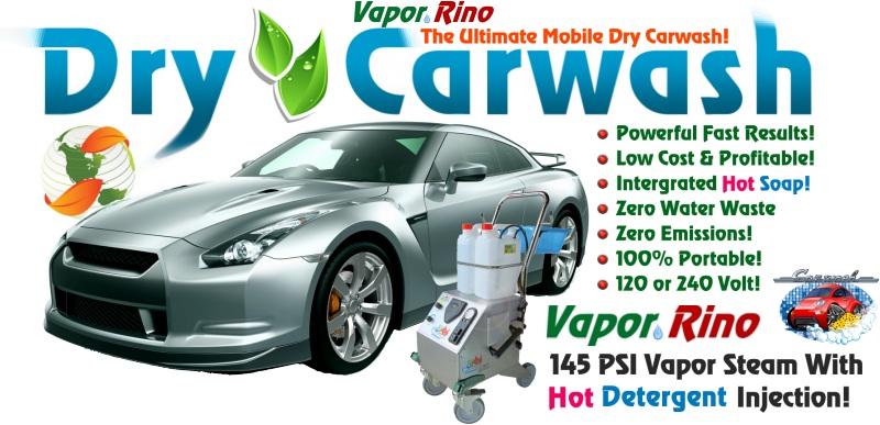 Car Detailing Supplies >> Dry Car Wash Machines - Steam Cleaner For Carwash No Water Waist!